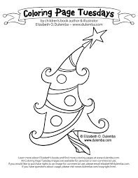 dulemba coloring tuesday groovy christmas tree