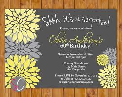 surprise 60th birthday owl surprise birthday party invitation birthday