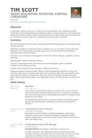 senior recruiter resume sample hundredrewarded ml