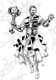 thor god thunder comics tesla black white sketch hammer