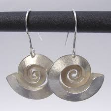 london jewellery designers swirl silver earrings contemporary earrings by contemporary