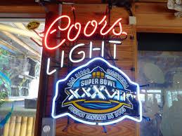 coors light bar sign coors light neon beer sign super bowl xxxvii nfl football