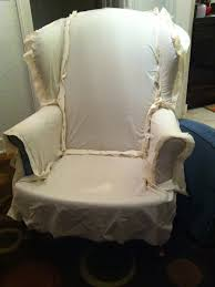 white wing chair slipcover furniture style white slipcover for wing chair appealing