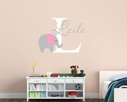 popular elephant wall decal buy cheap elephant wall decal lots customized name elephant wall decal for kids girls boys baby room wallpaper home decals decor vinyl