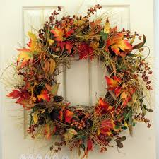 fall wreaths woodlawn silk front door fall wreath 22 in the wreath depot