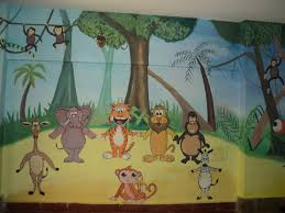 Wall Decoration For Preschool by Interior Design Jungle Themed Decorations Room Design Ideas Top