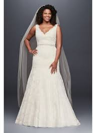 plus size wedding gowns lace mermaid plus size wedding dress david s bridal