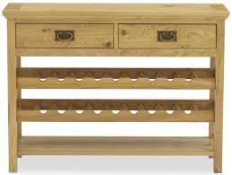 wine rack console table buy bentley designs provence oak console table with wine rack online