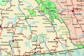 map of bc regional map of kootenays