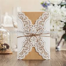 Wedding Invitations Philippines 2016 Floral Laser Cut Kraft Wedding Invitations Philippines With