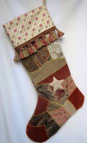 victorian crazy quilt christmas stocking 48 00 via etsy