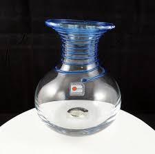 Blenko Vase Blenko Glass Don Shepherd Cobalt Blue Spiral Stripe 6 5 8 Vase