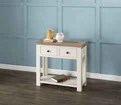white console table with drawers portland antique white console table with 2 drawers console tables