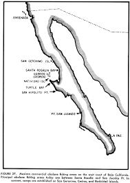 California Map Outline Virtualmexcom Baja California Mexico Including Cabo And Loreto