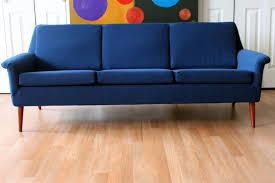 First Dibs Home Decor by Folke Ohlsson Dux Mid Century Modern Three Seat Sofa An Orange