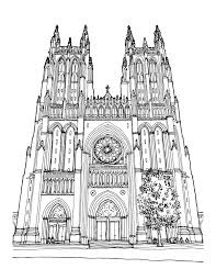 Washington National Cathedral Floor Plan An Architectural Coloring Book For Washington D C U2039 Architects