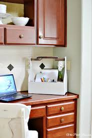 Kitchen Desk Organization It S Ok To Start Small At The Picket Fence