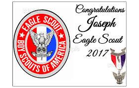 eagle scout cake topper eagle scout emblem edible cake topper decoration sugar sheet party