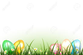colored easter eggs in a grass illustration royalty free cliparts