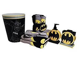 Batman Home Decor Amazoncom Batman Bathroom Accessories 12pc Bundle Home U0026 Kitchen