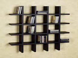 bookshelves units modern black acrylic wall shelf with 5 racks furniture