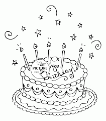 nice birthday cake coloring page for kids holiday coloring pages