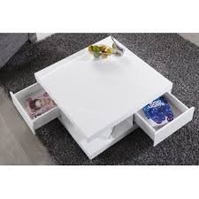 table basse design blanc laque ibiza