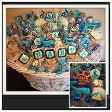 nautical baby baby nautical themes shower chocolate basket