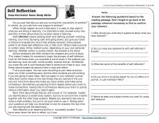 reading comprehension 4th grade self reflection 4th grade reading comprehension worksheet