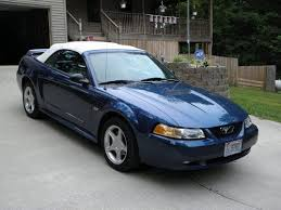 2000 blue mustang sell used 2000 mustang gt conv blue white top 5 speed all