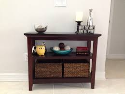 Entryway Table With Baskets Entryway Table With Baskets