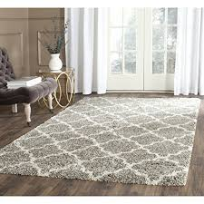 Discount Area Rugs 8 X 10 Safavieh Hudson Shag Collection Sgh282b Grey And Ivory Area Rug 8