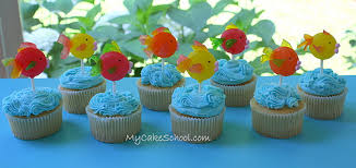 fish cake toppers fish cupcake lollipop toppers