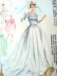 wedding dress sewing patterns 1960s dreamy wedding gown bridal bridesmaid dress pattern 2