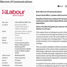 Seeking Director Labour Seeking New Director Of Comms The Skwawkbox