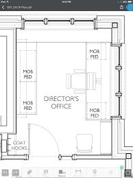 Office Floor Plan Creator by Brm Design Floor Plan Library Director U0027s Office 212