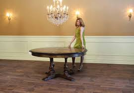 Dining Room Table With Leaf by Large Round To Round Dining Jupe Table Walnut Table With Hidden