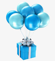 balloon gift blue gift balloon blue balloon gift originality png image and
