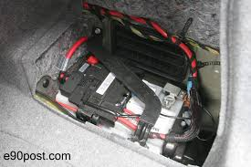 bmw 520i battery location intelligent battery sensor error