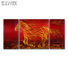 tooarts running horse picture modern painting wall art animal