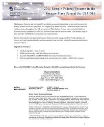 federal resume builder usajobs resume template
