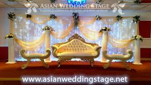 wedding backdrop gold gold and white swag and backdrop wedding stage