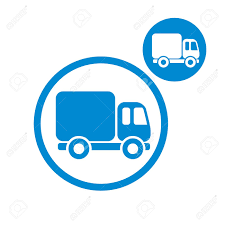 single delivery delivery car small truck vector simple single color icon isolated