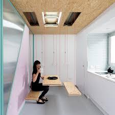 Trapdoor Secrets Furniture Hidden Inside Floors  Ceilings Urbanist - Dining room table with hidden chairs