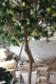 indoor garden decoration artificial lemon tree 13ft lemon tree