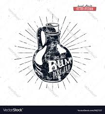 alcohol vector retro rum bottle label design vintage alcohol vector image