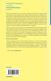 understanding analysis stephen abbott 8601421950817 books