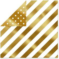 gold foil dots bold stripes foil reversible wrapping