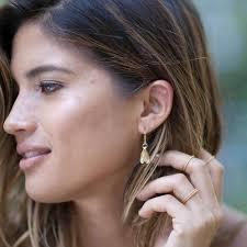 catherine zoraida earrings gold mini leaf earrings catherine zoraida as seen on