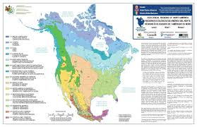 The Map Of North America by Ecological Map Of North America Maps On The Web